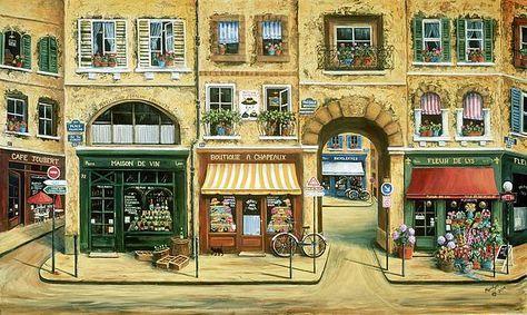 Les Rues De Paris by Marilyn Dunlap - Les Rues De Paris Painting - Les Rues De Paris Fine Art Prints and Posters for Sale
