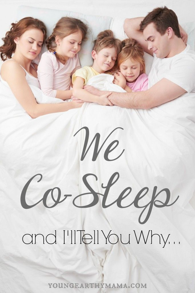 We co-sleep here. We do it because it works for us, and many people may judge us, but that's okay.