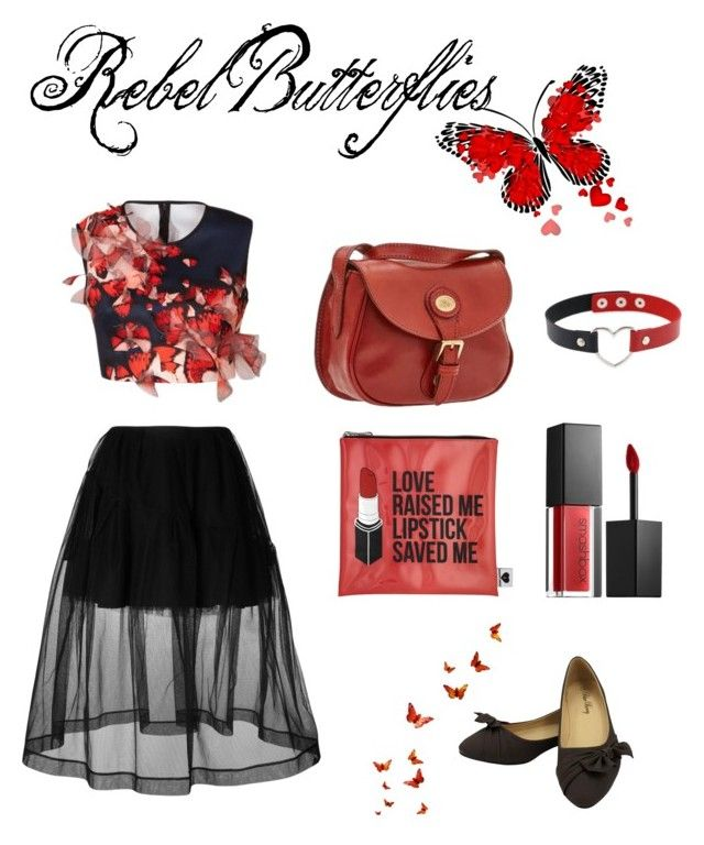 """Rebel Butterflies"" by margueritebaudelaire on Polyvore featuring moda, Clover Canyon, Simone Rocha, Sephora Collection e Smashbox"