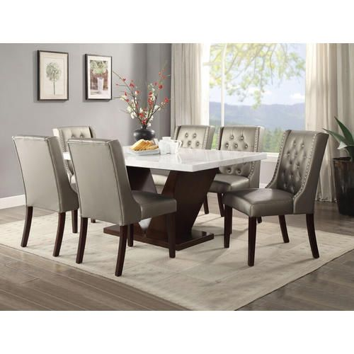 Sears marble top 7 piece dining set | Dining room table ...