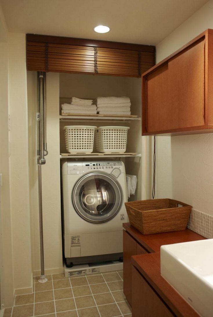 洗濯をするには、洗剤や柔軟剤、洗濯ばさみなど必要なものがたくさんありますよね。毎日使うものだからと雑然と置いたままにしていませんか?洗面所の一角に洗濯機を置い…