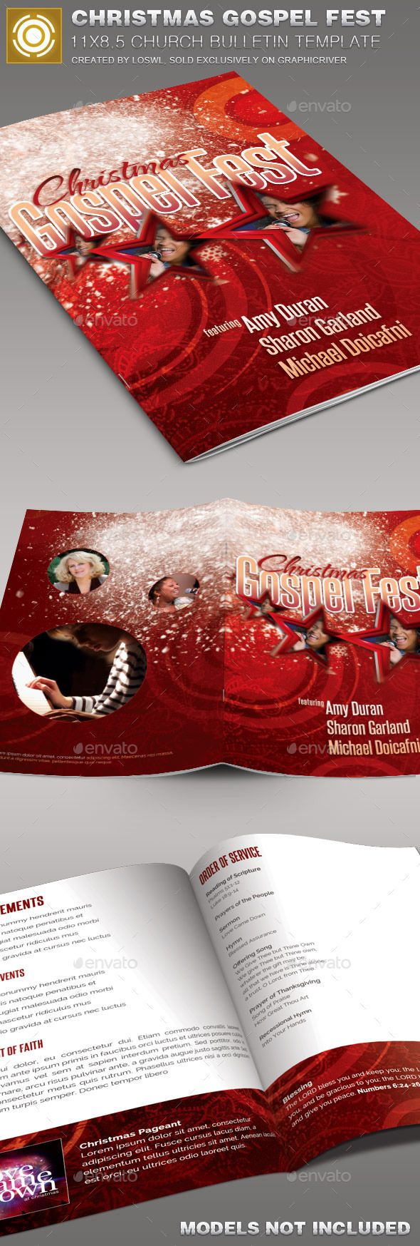 Best Church Bulletin Templates Images On   Brochure
