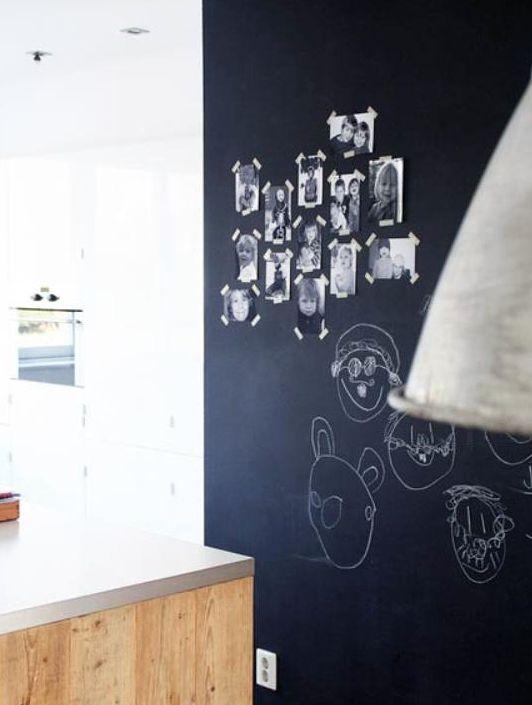 Inspiratie Keuken Muur : keuken met krijtverf muur: Kitchen Vans, Keuken Inspiratie, Wall