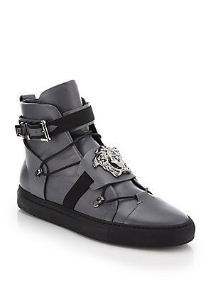 3a1c5e8e5 Versace Palazzo Leather High-Top Sneakers | ok y'all lets kick it ...