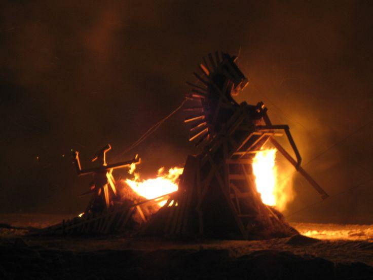 огненные фигуры. Архавнгельск