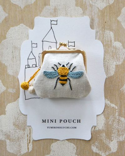 Mini pouch by Yumiko Higuchi! Lots of other designs too!
