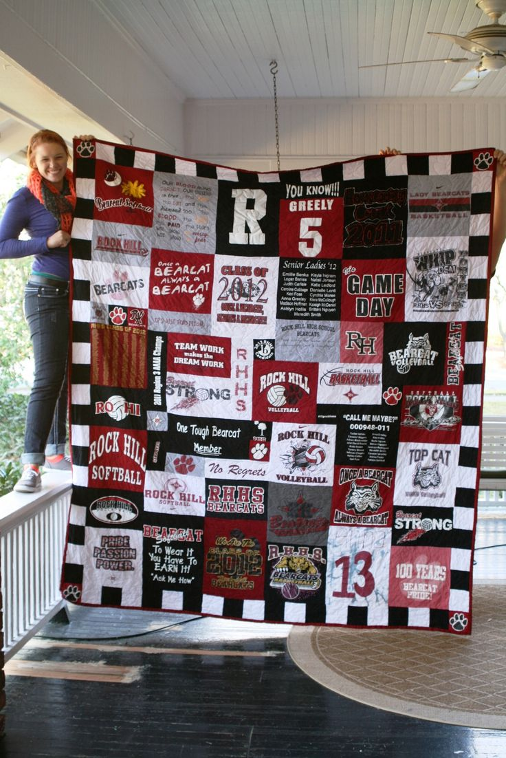 High school t-shirt quilt - Bellaworks on Facebook