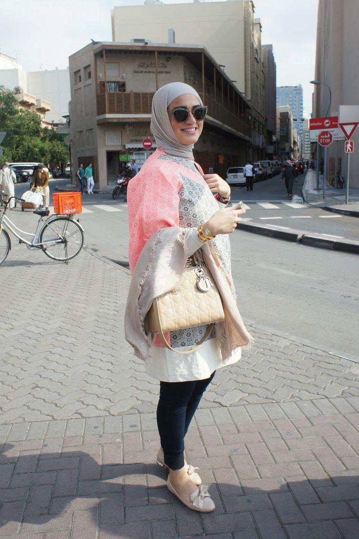 Dalal Kuwait/Fashion and makeup blogger. Dubai street style that keeps close to hijab