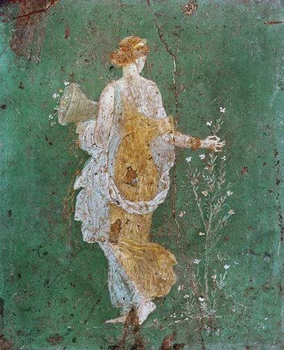 courant-peinture-art-antique Flore à la corne d'abondance (Pompéi