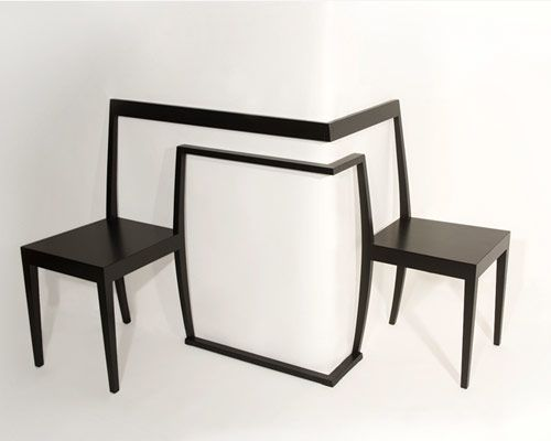 Creative Round-the-Corner Chair: Hörnstol.....I have just the spot for this!