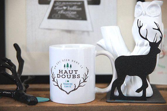 Le mug On est bien dans le Haut-Doubs par Creabisontine sur Etsy