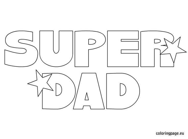 super dad coloring page