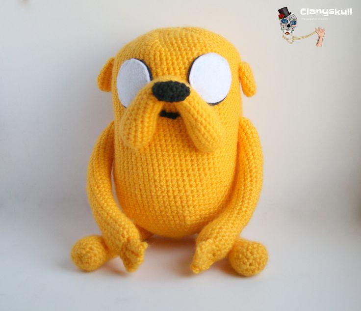Amigurumi Jake the Dog (Adventure Time). (22.00 EUR) by Clanyskull