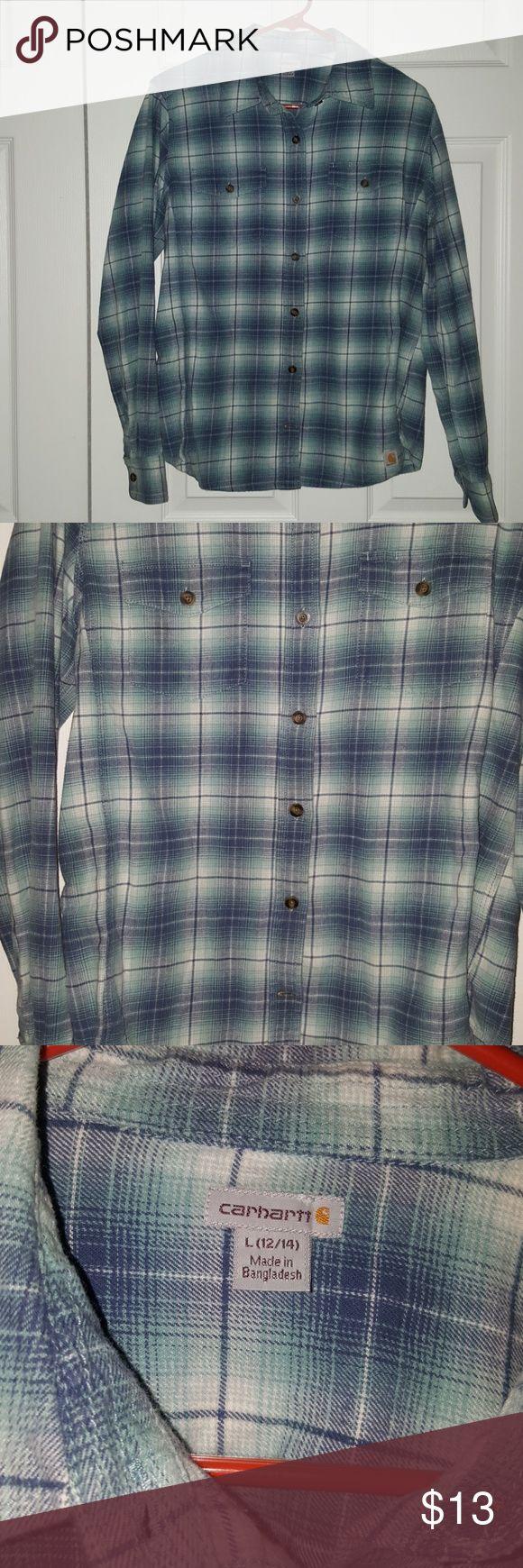 Carhartt Flanel Button Up Carhartt Flanel Button up Large Excellent condition Carhartt Shirts Dress Shirts