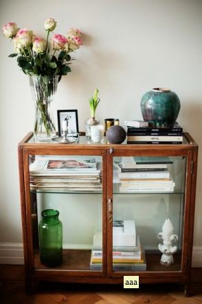 A small glass cabinet