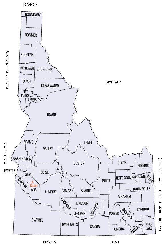 Idaho County MapIll Always Be A C Girl No Matter Where I - Idaho county map