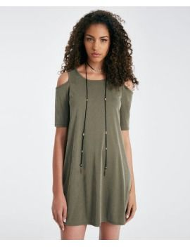 ribbed-cold-shoulder-shift-dress by wet-seal  #fashion #style #stylish #fashiontrend #awesome #shoptagr