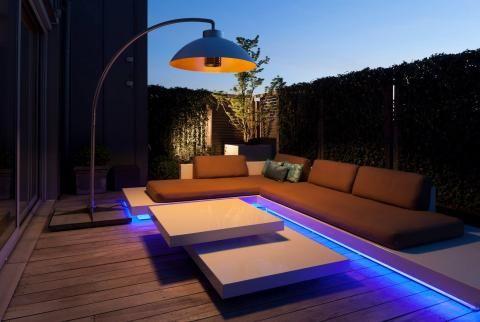 Buitenverwarming met stijl Vergeet die lelijke gasbranders voor buiten, voortaan warmte op je terras en tuin in stijl met deze terrasverwarmers!