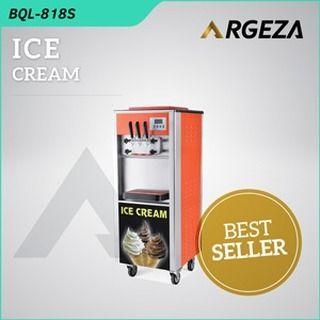 Mesin pembuat es krim BQL 818 S Ramesia, memiliki 3 tuas, dua tuas diaplikasikan untuk rasa yang berbeda dan satu tuas tengah untuk mengemix/ mencampur dari kedua rasa tersebut. Memiliki 2 tabung yang mampu menampung 5 liter adonan/ cairan es krim di setiap tabungnya.  Spesifikasi Mesin: Model :BQL 818 Power : 1800 Watt Flavour : 2 Flavour + 1 Mix Capacity :18 Liter / jam Size : 5405751370 mm Refrigerant : R22/ R404a* Berat Mesin :119kg  Info dan Pemesanan: 0816915918 (wa, sms, call)