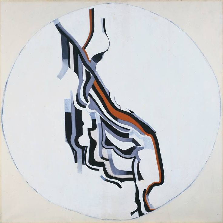 Jack Smith (1928-2011), Black, White and Grey Movement No. 2 (1962), oil on canvas, 106.7 x 106.7 cm. Collection of Tate, UK. Via Tate.