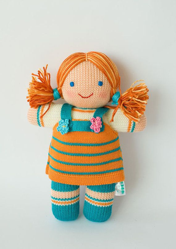Alice knitted baby doll  gift for boys and girls from by FrejaToys, $26.00
