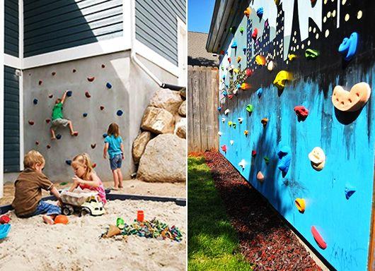 kinderspielplatz-im-garten-selber-bauen_DIY-kletterwand-für-kinder