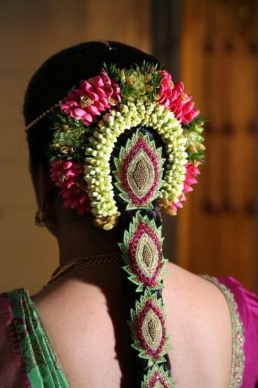 Beautiful South Indian Bridal Hairstyle