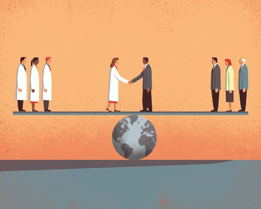 Science and Politics | Client: Science magazine | Davide Bonazzi | Editorial Illustrations 2015 - Vol. 1 on Behance