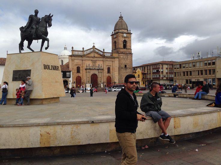 La plaza de Bolívar en Tunja