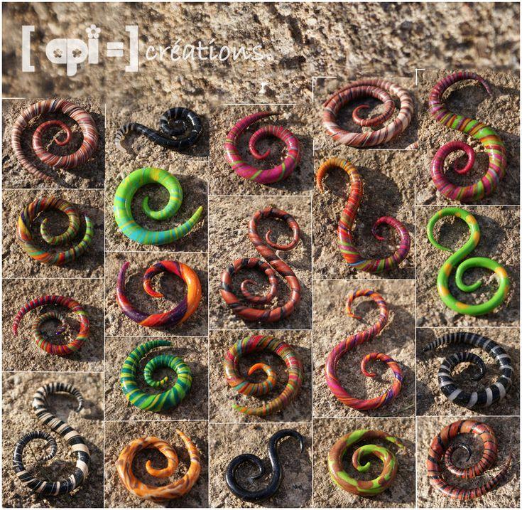 écarteur spirale | Entre 1 et 7euro , toutes couleurs, motifs et tailles dispoibles ( n ...