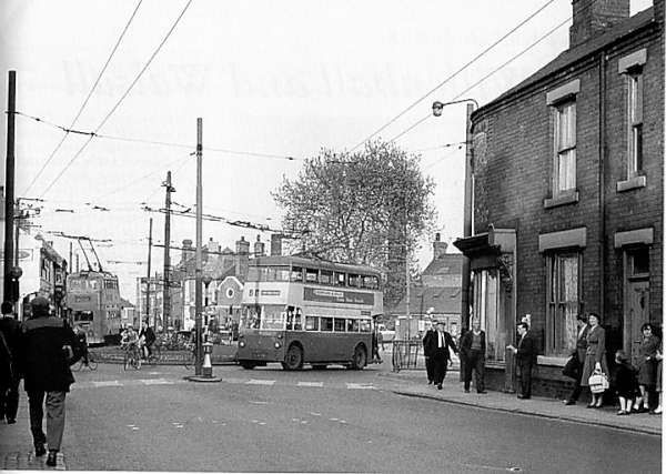 Old trolley buses, Dale island, Willenhall