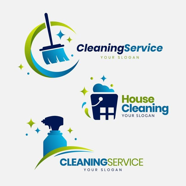 Cleaning Logo Collection Free Vector Freepik Freevector Logo Design Template Flat Cleaning Logo Cleaning Company Logo Clean Logo Design