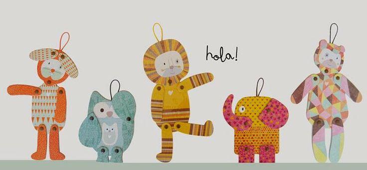 Chicos y Papás: MOW: Muñecos articulados de cartón