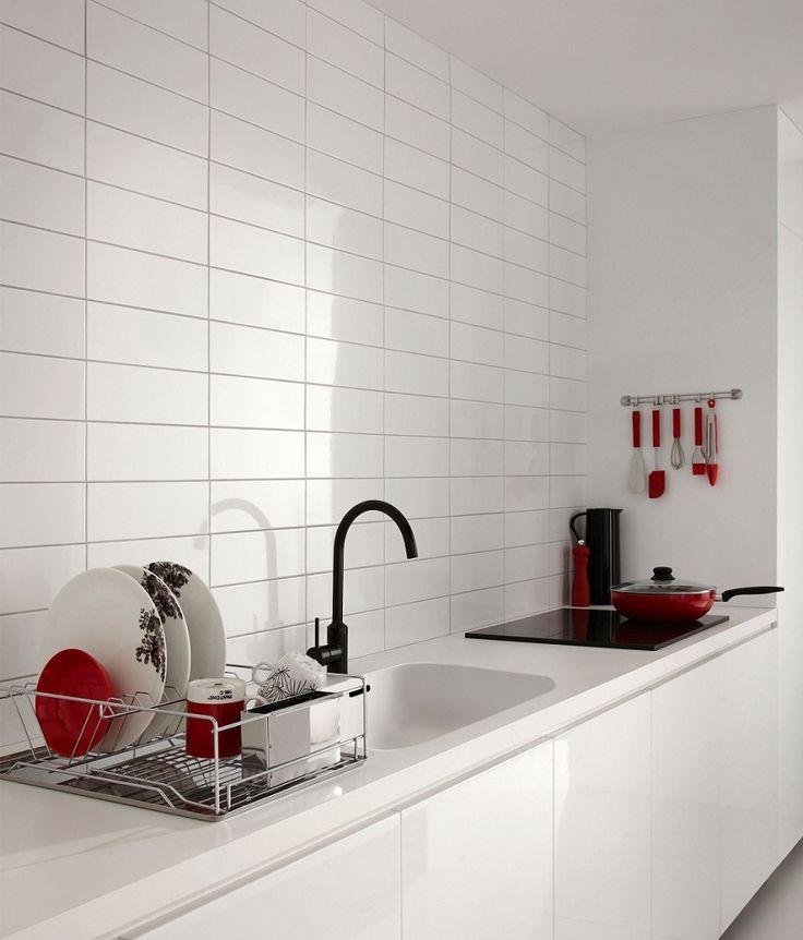Linear White Gloss Tile | Topps Tiles