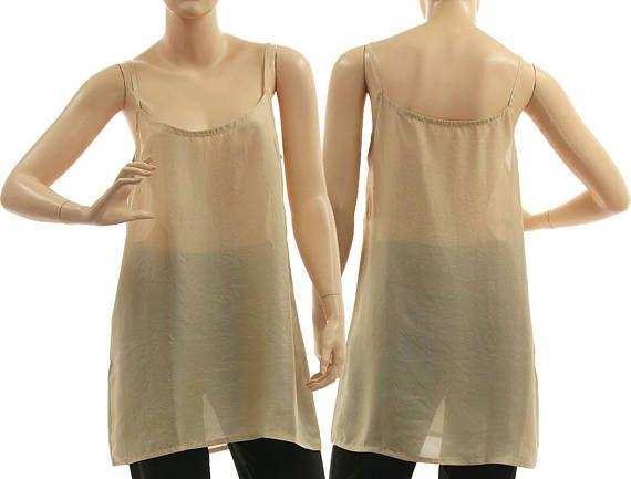 Silk slip top in nude beige strappy tank top beige silk