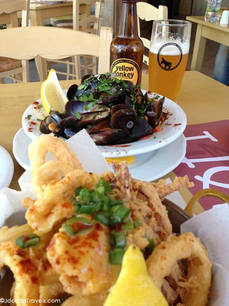 Click for where to find the freshest fried calamari on Jdomb's Travels list of 10 Things to Taste in Santorini