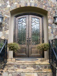 Iron front Door. Double Door.