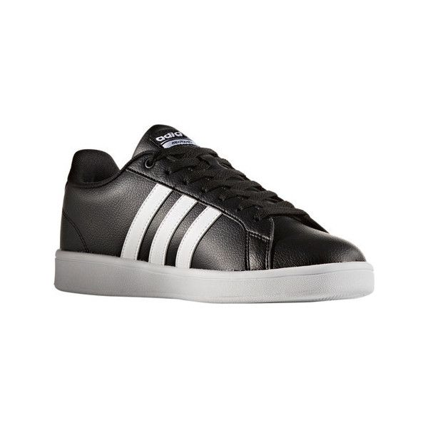 Men's adidas NEO Cloudfoam Advantage Stripe Court Shoe (1,215 MXN) ❤ liked on Polyvore featuring men's fashion, men's shoes, men's sneakers, mens shoes, mens sports shoes, mens retro sneakers, adidas mens sneakers and mens lace up shoes