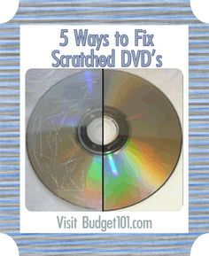 5 Easy fixes for scratched DVDs that actually work. (Click on photo for more)