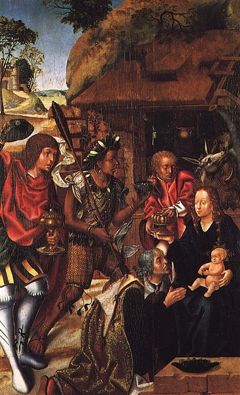 """Portuguese school, """"Adoration of the Magi,"""" ca. 1505. Museu de Grao Vasco, Viseu."""