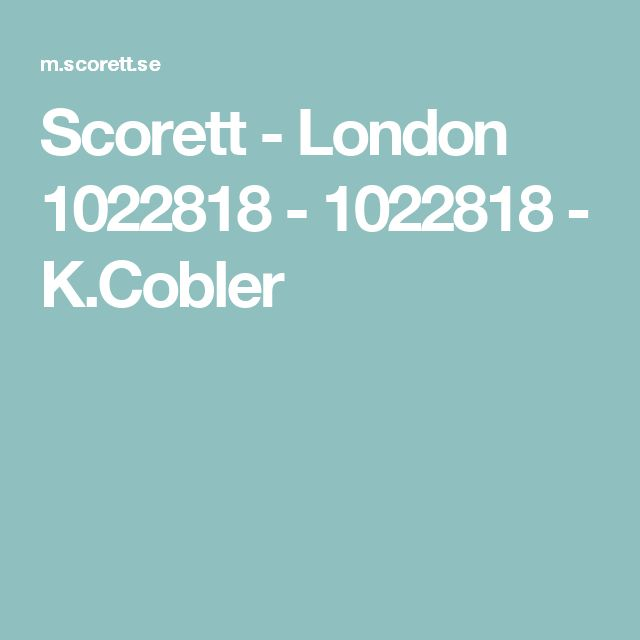 Scorett - London 1022818 - 1022818 - K.Cobler