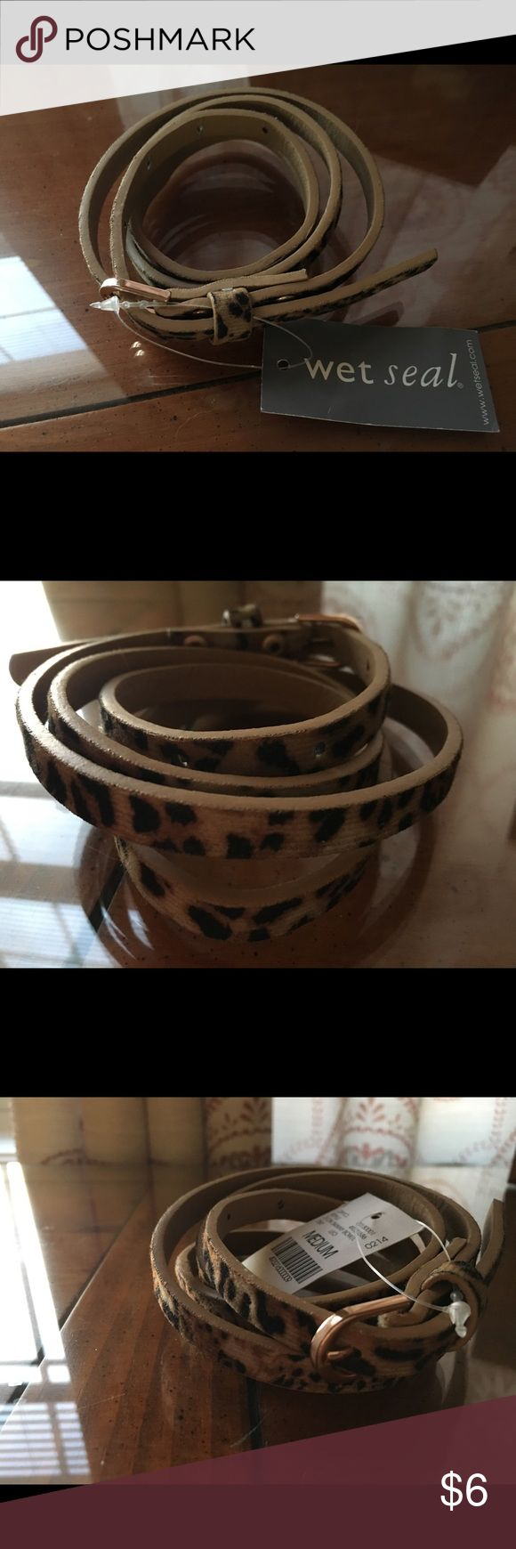 Wet Seal animal print belt. New with tag. Wet Seal belt. Wet Seal Accessories Belts