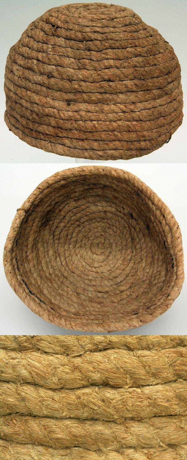 Cerveliere (cap worn under mail), 14th to 15th century, German, rope, Met Museum.