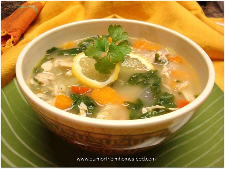 Lemon Turkey Soup