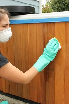 Easily Restore Wooden Hot Tub Cabinets!