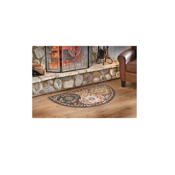 Sale Price : $64.99  Order it Here=> https://diamondhomeusa.com/products/indoor-blue-beige-floral-hearth-rug-fireplace-carpet-flower-themed-half-moon-circle-mat-use-at-cabin-lodge-cottage-country-southwestern-hand-tufted-wool-pad-ornamental-pattern-2-ft-by-4-ft?utm_campaign=outfy_sm_1509854759_723&utm_medium=socialmedia_post&utm_source=pinterest   Indoor Blue Beige Floral Hearth Rug Fireplace Carpet Flower Themed Half Moon Circle Mat Use at Cabin Lodge Cottage Country Southwestern Hand…