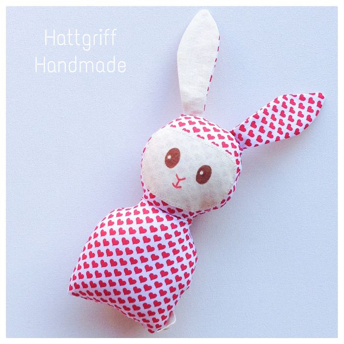 READY TO SHIP Hearts Baby Bunny