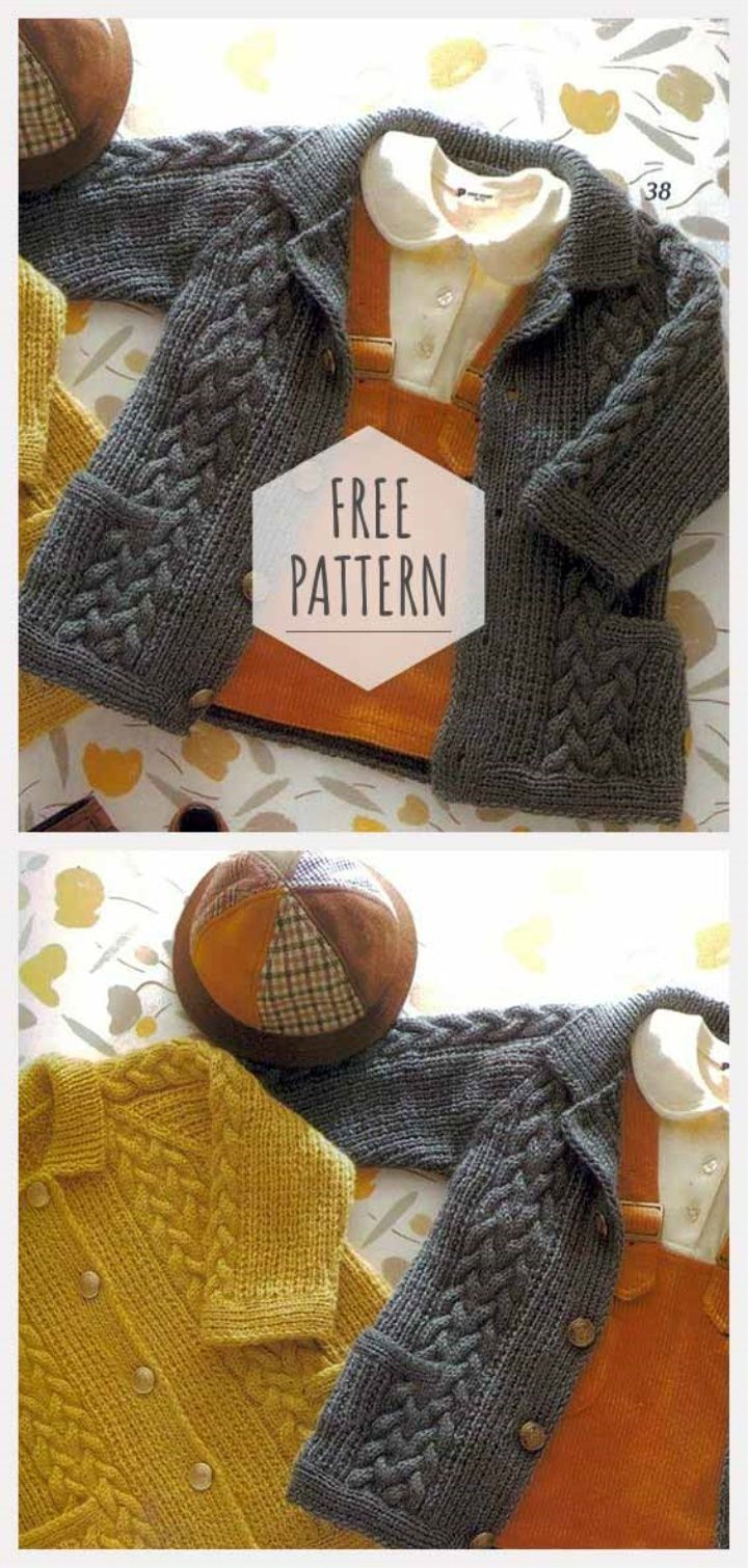 Knitting Kids Cardigan Free Pattern | Knit knit knit | Pinterest ...