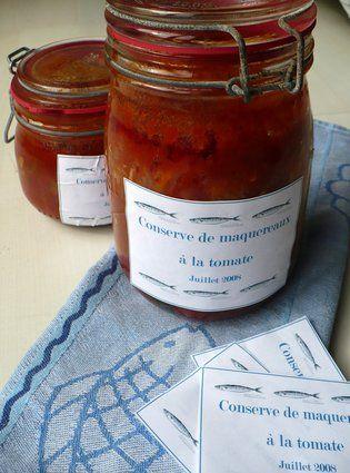 Conserves de maquereaux à la tomate