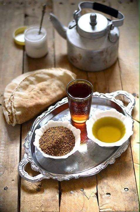 Simple Syrian Breakfast ( Zait and Za'tar)